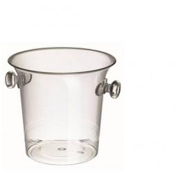 IJsblokjesemmer Transparant Klein + Gratis fles Prosecco