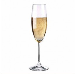 4 Champagne Flute Glazen