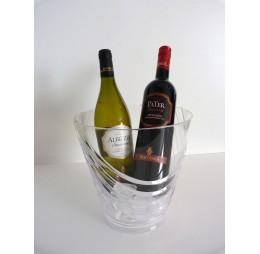 Koeler Transparant Rond met Witte en Rode Wijn