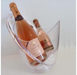 Champagnepakket met Transparante Koeler en Rosé