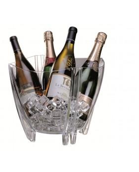 Champagne & Wijn Koeler Transparant Groot