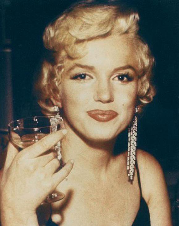 merilyn monroe champagne coupe glazen